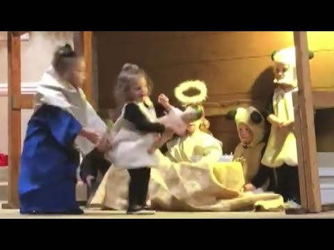 Kid Hilariously Steals Baby Jesus From Manger During Live Nativity Scene
