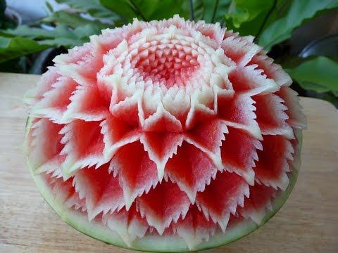แกะสลักแตงโมแบบที่ 3Watermelon Carving@3