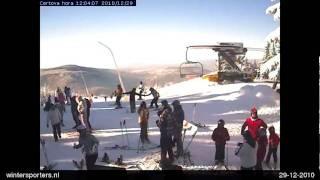 Harrachov webcam time lapse 2010-2011