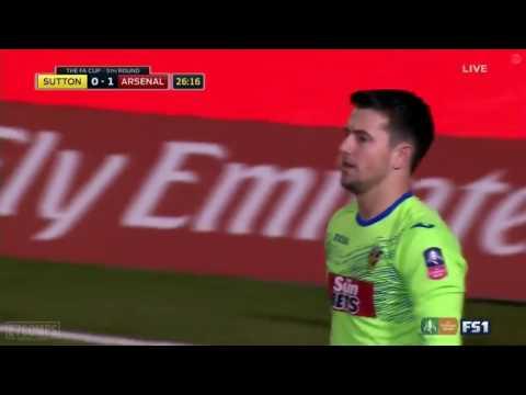 Sutton United vs Arsenal 0 1  - 20 02 2017 HD - Lucas Perez Goal