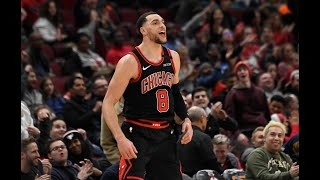 Zach LaVine Catches Fire vs. Pacers, Scores 20-Straight Points For Bulls