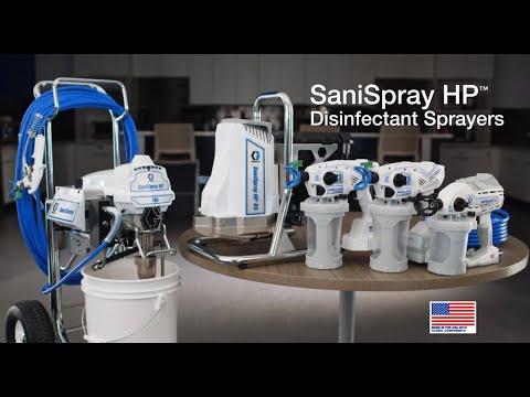 Graco SaniSpray HP 130 2-Gun Cart Airless Sprayer Twin Gun Kit Video