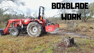 6. Box blade Tractor work with Mahindra 4540 4wd [2018]