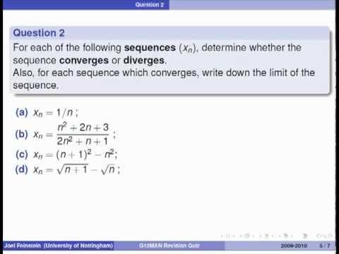 Wiederholungs Quiz - Mathematische Analyse