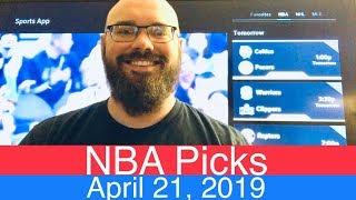 NBA Picks (4-21-19)   Playoffs Basketball Sports Betting Predictions Video   Vegas   April 21, 2019