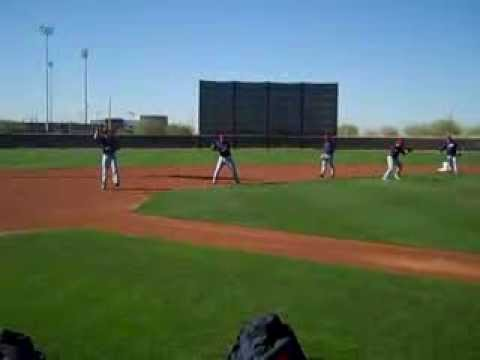 VIDEO: Indians take infield practice in Goodyear