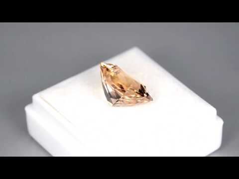 5CTS GORGEOUS CUSTOM CUSHION CUT NATURAL BRAZILIAN PEACH MORGANITE