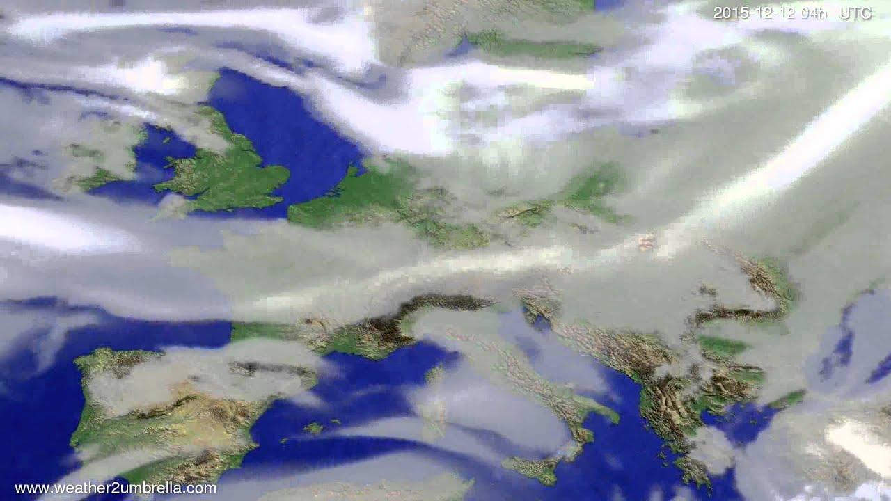 Cloud forecast Europe 2015-12-08