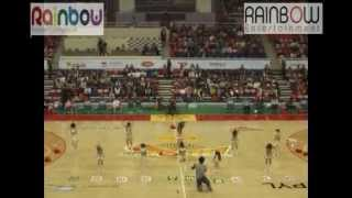 2013 KBL Ulsan Mobis semifinal game celebration performance - Rainbow Kids Cheerleading team