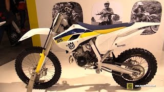 4. 2015 Husqvarna TC 85 Motocross Bike - Walkaround - 2014 EICMA Milan Motorcycle Exhibition