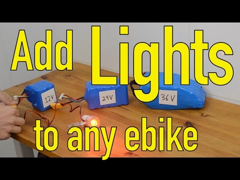 How to add any LED lights to an electric bicycle