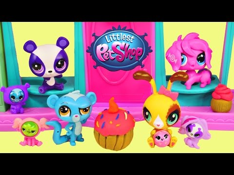 pet - Littlest Pet Shop Sweet Delights Rolleroos Play Doh Sweet Shoppe Toy Playset with Exclusive LPS Buttercream Sundy bunny! Littlest Pet Shop Sweets Shoppe wouldn't be complete without some ...