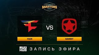 FaZe vs Gambit - Dreamhack Malmo 2017 - map1 - de_mirage [yXo, CrystalMay]