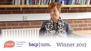 CPCAB Counselling Research Award Winner 2017