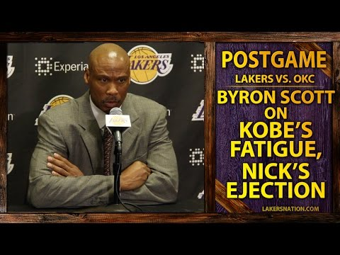 Video: Lakers Byron Scott On Kobe Bryant's Fatigue, Nick Young Ejection