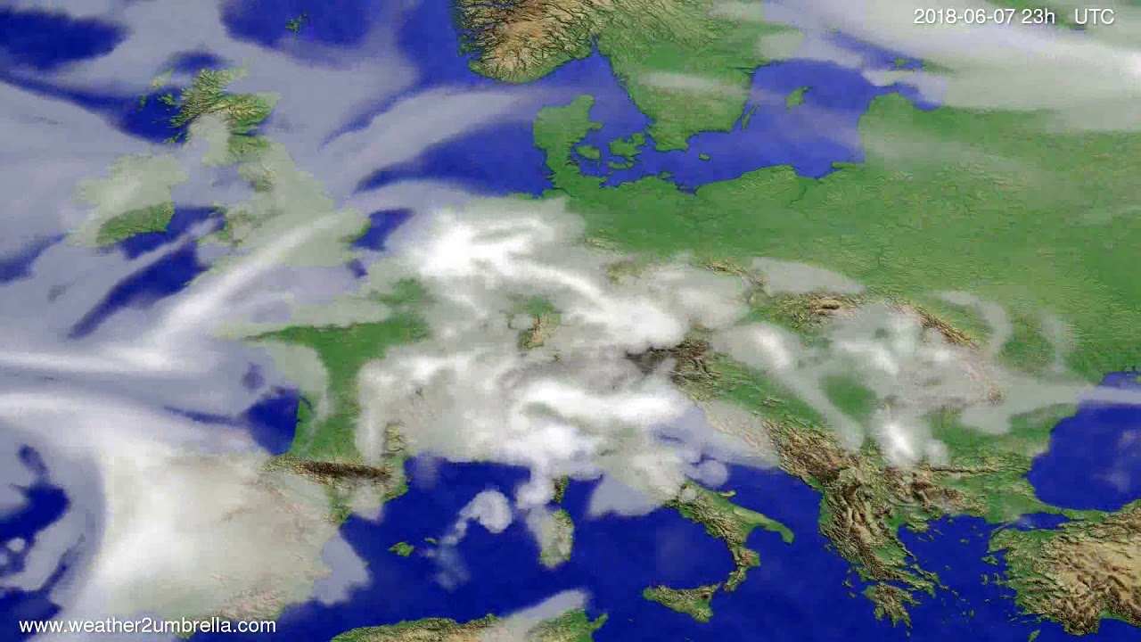 Cloud forecast Europe 2018-06-04