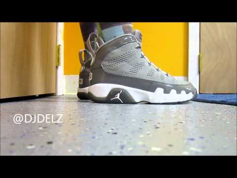 Air Jordan Cool Grey 9 Sneaker on Feet W/ Dj Delz