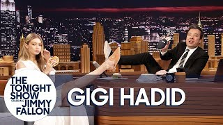 Video Gigi Hadid Gives Jimmy the Only Men's Pair of Her EyeLoveMore Mules MP3, 3GP, MP4, WEBM, AVI, FLV April 2018