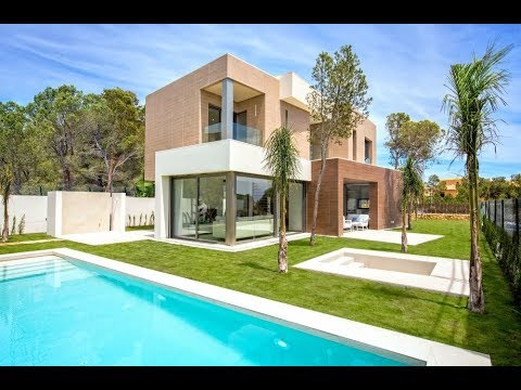 New Premium class villas in high-tech style in the elite suburb of Benidorm, in Sierra Cortina village