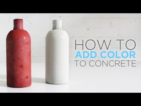 How to color concrete with an integral pigment