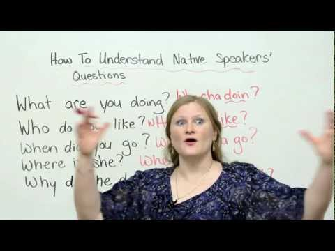 English - http://www.engvid.com Native English speakers ask questions SO fast that you can't understand them! Watch this lesson to improve your listening comprehension...