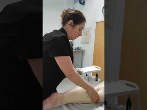 Aromatherapy massage - backs of legs