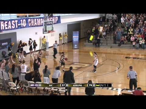 Women's Basketball: Adelphi beats AIC to win NE-10 Championship, 79-57