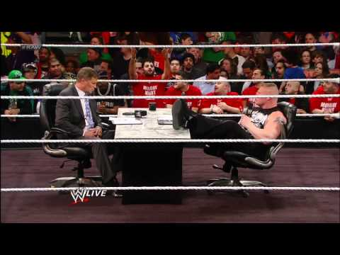 Brock Lesnar & John Cena Contract Signing For Extreme Rules