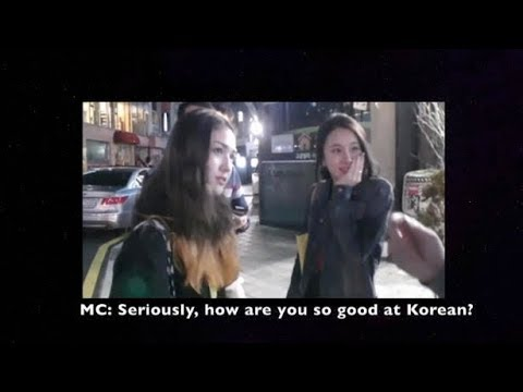 [ENG SUB] SIXTEEN Somi Chaeyoung street interview
