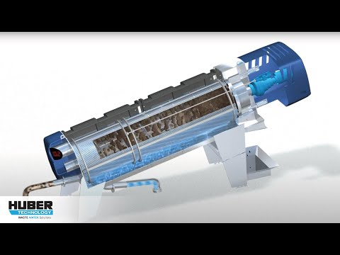 Animation: Function and components of new HUBER Screw Press Q-PRESS® 620, 800