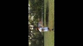 Made up a new challenge (try not to touch  the ball challenge)