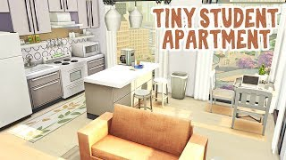 Tiny Student Apartment 🎓    The Sims 4 Apartment Renovation: Speed Build
