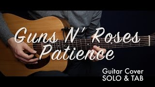 Guns N' Roses - Patience (SOLO w TAB) guitar cover/guitar (lesson/tutorial) /play-along/