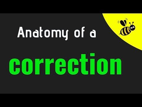 Anatomy of a correction