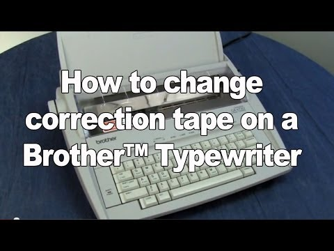 Changing the Correction Tape | Brother Electronic Typewriters