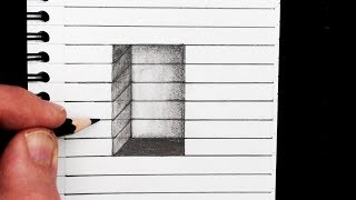 Learn a simple way to draw a 3D hole on line paper. I hope you LIKE, COMMENT, SHARE and SUBSCRIBE! http://www.youtube.com/circlelineartschool Watch Next: My Optical Illusion Playlist: http://bit.ly/1G7HsAICircle Line Art School: Episode 241:How to Draw a 3D Hole on Line Paper: Easy Trick ArtThank you for watching this quick optical illusion,and see you next time!This is episode 241 in my How to Draw series of free art videos at Circle Line Art School. Please subscribe to see a new video every week: http://www.youtube.com/circlelineartschoolTom McPhersonCircle Line Art Schoolhttp://www.circlelineartschool.comHow to Draw a 3D Hole: Simple Easy Trick ArtMusic used in this video:Bathed in the Light - Calming by Kevin MacLeod is licensed under a Creative Commons Attribution licence (https://creativecommons.org/licenses/by/4.0/)Source: http://incompetech.com/music/royalty-free/index.html?isrc=USUAN1100308Artist: http://incompetech.com/How to Draw a Hole: Easy Trick Art