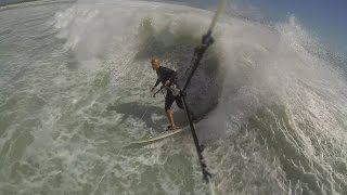Beadnell United Kingdom  City pictures : Wave Kite Surfing Big Waves Beadnell Bay England - Kiting UK - RRD Religion - GoPro 3 - Kiteboarding
