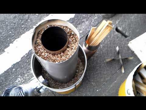ロケットストーブ1号機テスト Kinugasa Rocket stove No.1