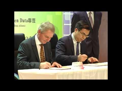 Open Data台英發展交流合作會議 - 台灣開放資料聯盟與英國開放資料學會簽約儀式