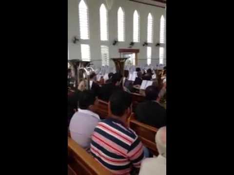Ensaio Regional em Taiuva SP com o Irmão Alceu hino 368 oboé , flauta e orquestra