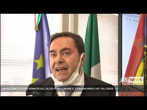 UN MILIONE DI EURO DONATO ALL'ULSS4 PER CURARE IL CORONAVIRUS | 07/04/2020