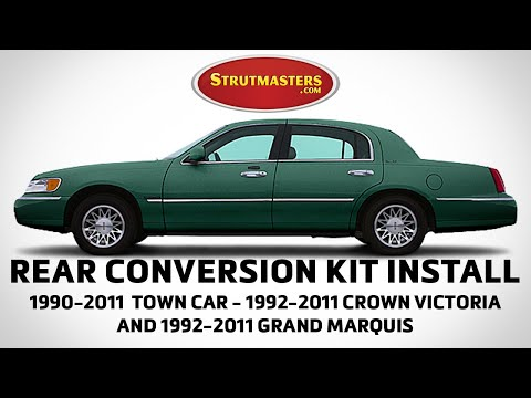1990-2008 Lincoln Towncar With A Strutmasters Air Suspension Conversion (Install Video)