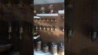 Oggetti|Duvara Monte Silindirik Kahve Draje Kuruyemiş Siloları