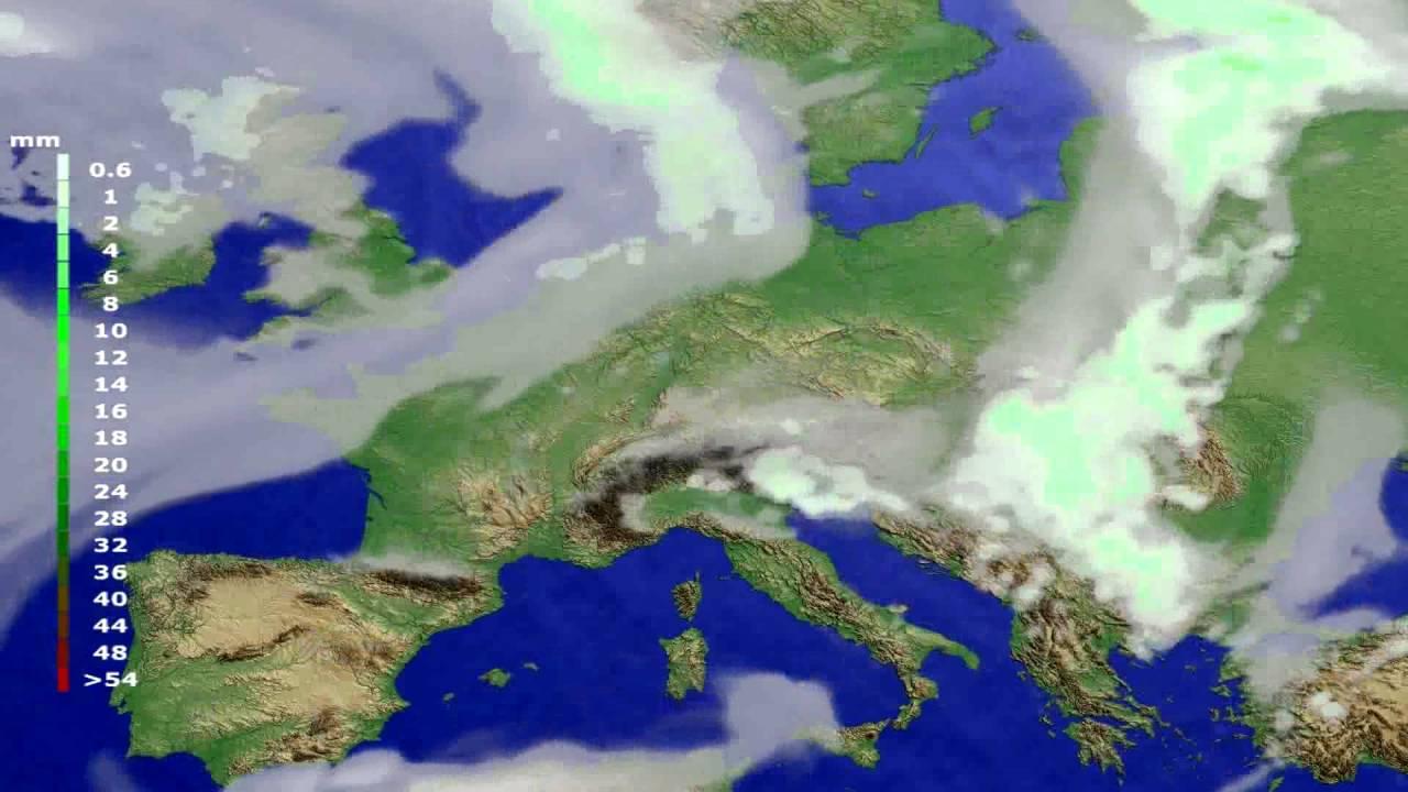Precipitation forecast Europe 2016-06-24