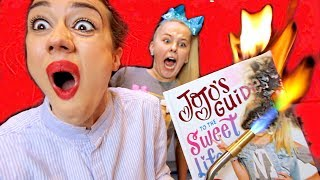 Video BURNING YOUTUBER BOOKS WITH JOJO SIWA! MP3, 3GP, MP4, WEBM, AVI, FLV Januari 2019