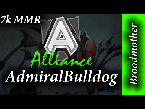 Alliance AdmiralBulldog Broodmother 7K MMR Full Game Dota