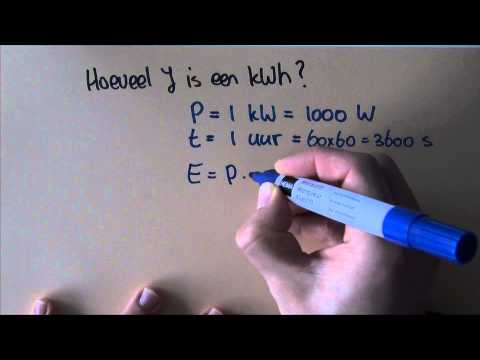 Elektriciteit: joule en kilowattuur