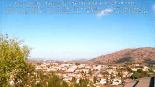 24-hours Time-lapse of Norco Hills weather Mar-1-2012