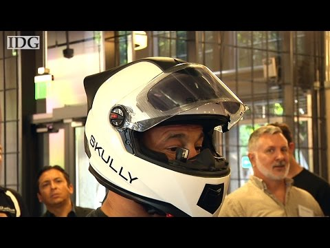 An early look at Skully heads-up display motorcycle helmet