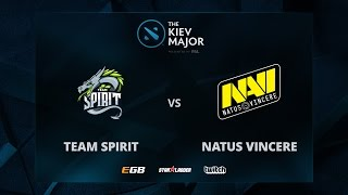 Team Spirit vs Na'Vi, Game 2, The Kiev Major CIS Main Qualifiers Play-off